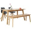 Homestead Living Barton Dining Table and 2 Chairs and Bench