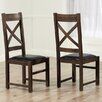 Home Etc Spalding Solid Oak Upholstered Dining Chair (Set of 2)