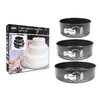 Home Etc 3 Piece Non Stick Round Cake Tin Set in Black