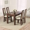 Home Etc Ritual Dark Extendable Dining Table and 4 Chairs