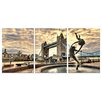 Home Etc YoungOnes Tower Bridge London 3 Piece Photographic Print Set