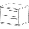 Home Etc Clare 2 Drawer Bedside Table