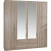 Home Etc Regan 4 Door Wardrobe
