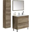 Home Etc Dakota 80cm Single Vanity Set with Mirror