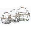 Home Etc 3 Piece Oval Hanging Basket Set