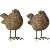 Home Etc 2-tlg. 2-tlg. Statuen-Set Little Birds