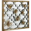 House Additions Mirror Butterflies Graphic Art Plaque