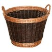 House Additions Willow Two Tone Log Basket