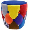 House Additions Colourful Drum Pouffe