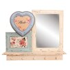 House Additions Shabby Elegance Mirror/Hook Shelf