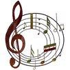 House Additions Wanddekoration Violinschlüssel