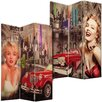 House Additions 180cm x 120cm Marilyn Monroe Canvas 3 Panel Room Divider