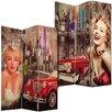 House Additions Leinwand-Raumteiler Marilyn Monroe mit 3 Paneelen