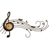House Additions Metal Art Music Wall Clock