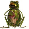 House Additions Metal Art Frog Figurine