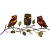 House Additions Owl Family Wall Décor