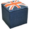 House Additions Union Jack Flag Storage Ottoman