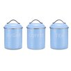 House Additions Vintage 3-Piece Pastel Storage Tin Set
