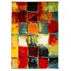House Additions Impressionist Multi-Coloured Area Rug