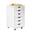House Additions Simon 6-Drawer Mobile Office Pedestal