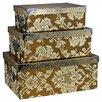 House Additions 3-tlg. Aufbewahrungsboxen-Set Indian Flower