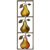 House Additions Pear 3 Piece Framed Graphic Art Plaque Set