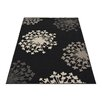 House Additions Sensation Black Area Rug