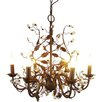 House Additions Esmeralda 6 Light Candle Chandelier