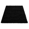 House Additions Cosy Black Area Rug