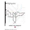 House Additions Wandbild Animals on the Underground Highgate Grafikdruck