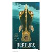 House Additions Wandbild Retro Futurism Neptune Retro-Werbung