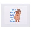 "House Additions Paddington Bear ""I'm A Very Rare Sort Of Bear"" Art Print Plaque"