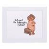 "House Additions Paddington Bear ""A Bear? On Paddington Station"" Art Print Plaque"