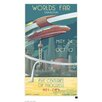 House Additions Wandbild Retro Futurism Earth Retro-Werbung