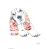 House Additions Dog Prints Basset Hound Art Print