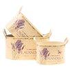 House Additions 3-tlg. Rundes Blumentopf-Set Lavendel
