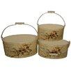 House Additions 3-tlg. Ovales Blumentopf-Set Olive