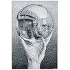 """House Additions Schild """"Hand with Globe"""" von Escher, Grafikdruck"""