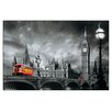 "House Additions ""Bus on Westminster Bridge"" by Yannick Yanoff Graphic Art Plaque"