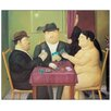 House Additions 'I Giocatori Di Carte' by Botero Art Print Plaque