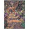 House Additions 'Une Allée du Jardin de Monet, Giverny' by Monet  Art Print Plaque