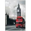 House Additions Schild Bus Westminster, Grafikdruck