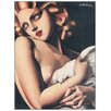 "House Additions Schild ""Donna Con Colomba"" von De Lempicka, Kunstdruck"