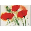 House Additions 'Coquelicots au Vent I' by Marthe Art Print Plaque