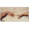 House Additions 'La Creazione di Adamo' by Michelangelo Art Print Plaque