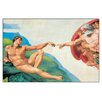 House Additions The Creation of Adam in Michelangelo Art Print Plaque