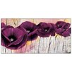"House Additions ""Pavot Violet II"" by Zacher Finet Art Print Plaque"
