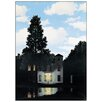 "House Additions ""L Empire Des Lumieres"" by Magritte Photographic Print Plaque"