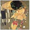 """House Additions Schild """"The Kiss Detail"""" von Klimt, Kunstdruck"""