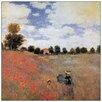 """House Additions Schild """"Campo Di Papaveri Detail"""" von Monet, Kunstdruck"""